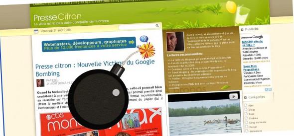 Presse citron : nouvelle victime du Google Bombing