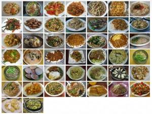 plats menus chinois