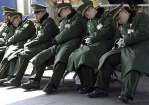 la sieste de la police chinoise