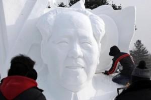 Mao-Zedong-en-glace-Festival-de-Harbin