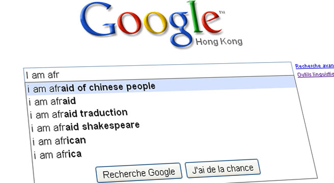Google peur la chine