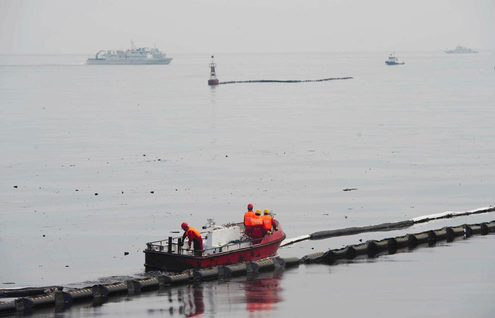 chinois lutte contre la maree