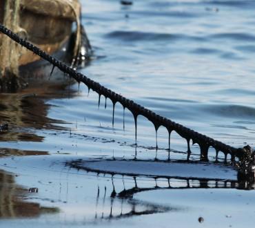 Les photos choc de la marée noire à Dalian