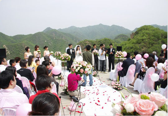 mariage grande muraille