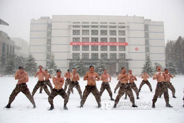 L'entrainement des soldats chinois