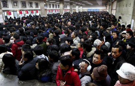 Le plus grand mouvement de foule du monde