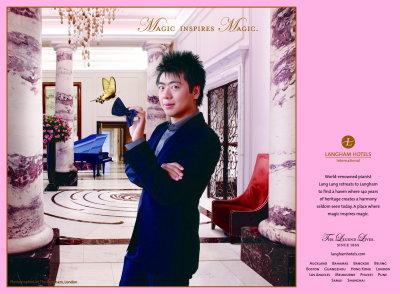 Le pianiste Lang Lang ambassadeur de Langham Hotels
