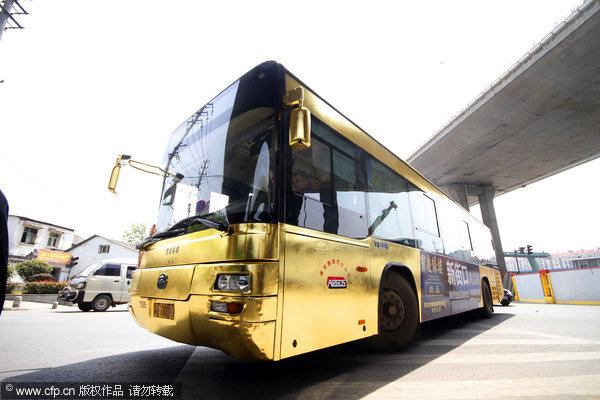 bus en or a nanjing Chine