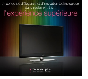 Haier innove: la télévision sans fil