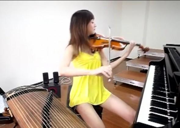 Concert de 3 instruments par Shara Lin