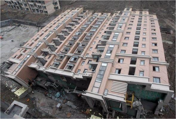 Problème lors de la construction d' immeuble en Chine
