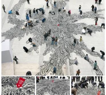La sensibilisation au crachat à Shanghai