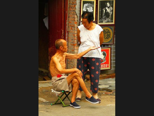 couple vieux chinois
