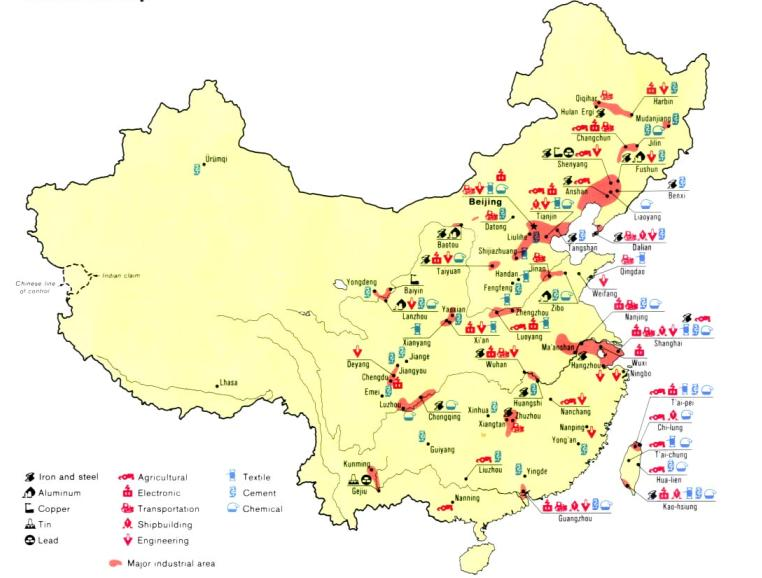 Carte Chine Energie.L Industrie En Chine Les Clefs De La Reussite Marketing Chine