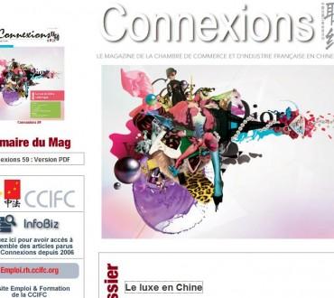 Le magazine Connexion sur le luxe en Chine