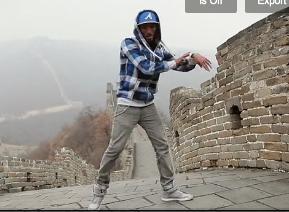 Faire du dubstep sur la grande muraille de Chine