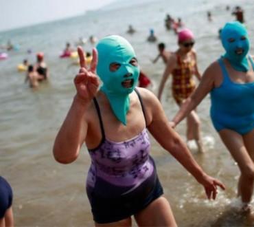 Le masque de protection pour la plage