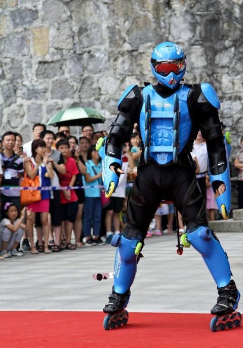 Rollerman débarque en Chine
