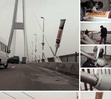 Street Marketing pour de la Super Glue