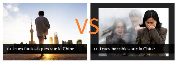 La Chine: le positif VS le négatif