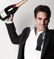 Roger Federer égérie Möet & Chandon 2013