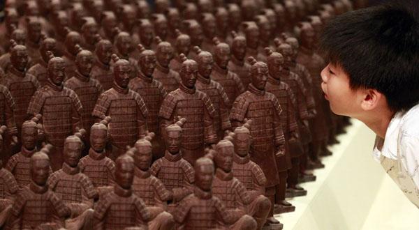 armée en chocolat