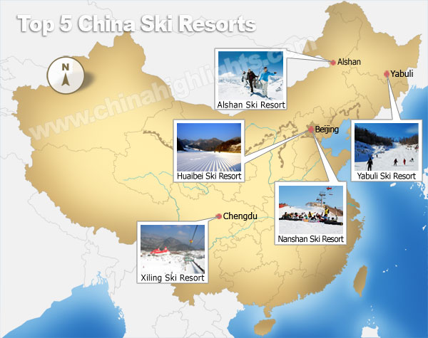 Top 5 des stations de ski de Chine