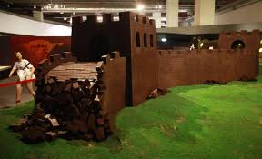 Grande muraille de Chine en chocolat