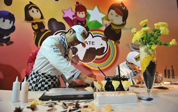 Le parc d'attraction en chocolat à Shanghai