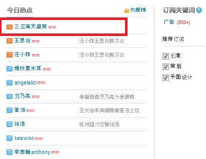Top Buzz Weibo