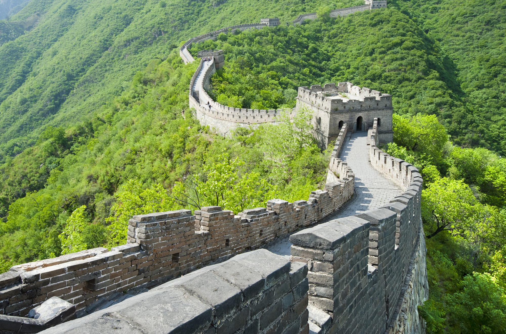 Chine-Great Wall of China in Summer-iStockphoto