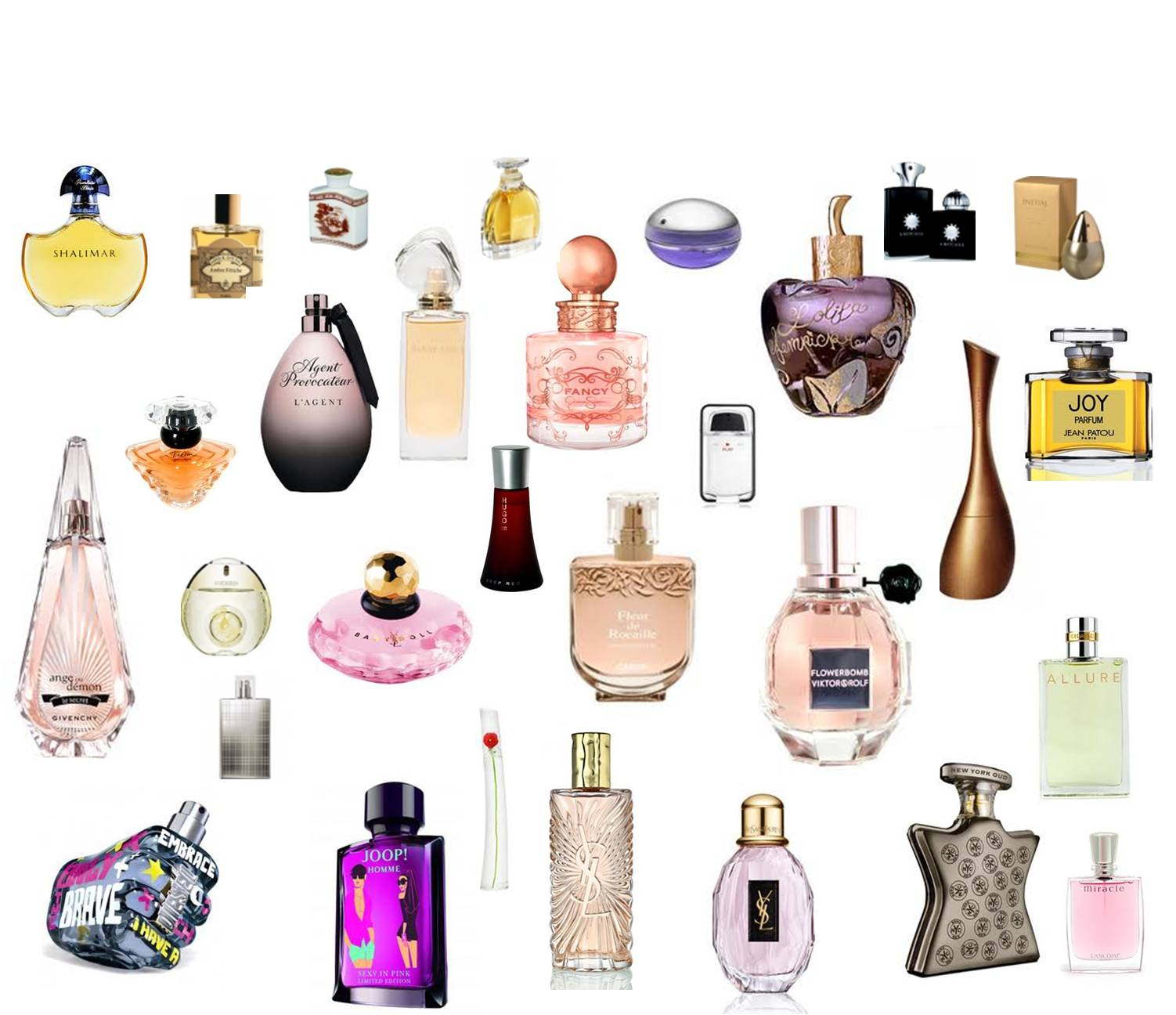 Differents parfums