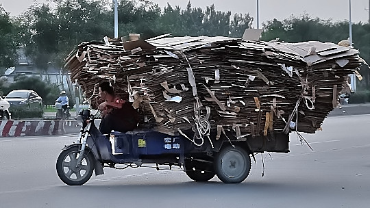 Transport recyclage en Chine