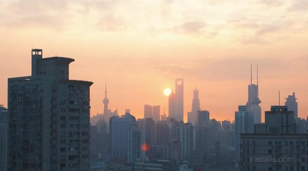 Une superbe timelaps vidéo de Shanghai