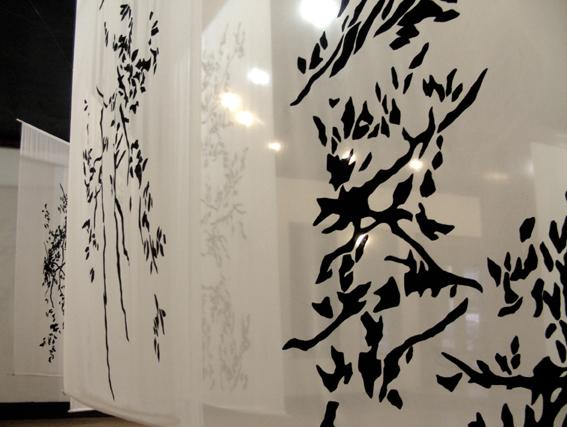 Mindy, 5 formats 220 x 150 cm, acrylique sur polyester