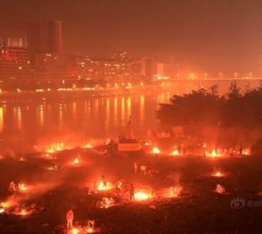 Impressionnant en Chine, le Sichuan célèbre la fête des fantômes