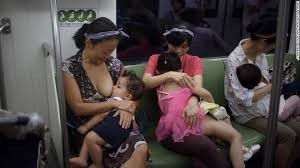breasfeeding in the subway