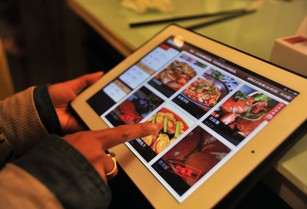 7 conseils marketing pour les restaurants en chine for Tablette tactile cuisine