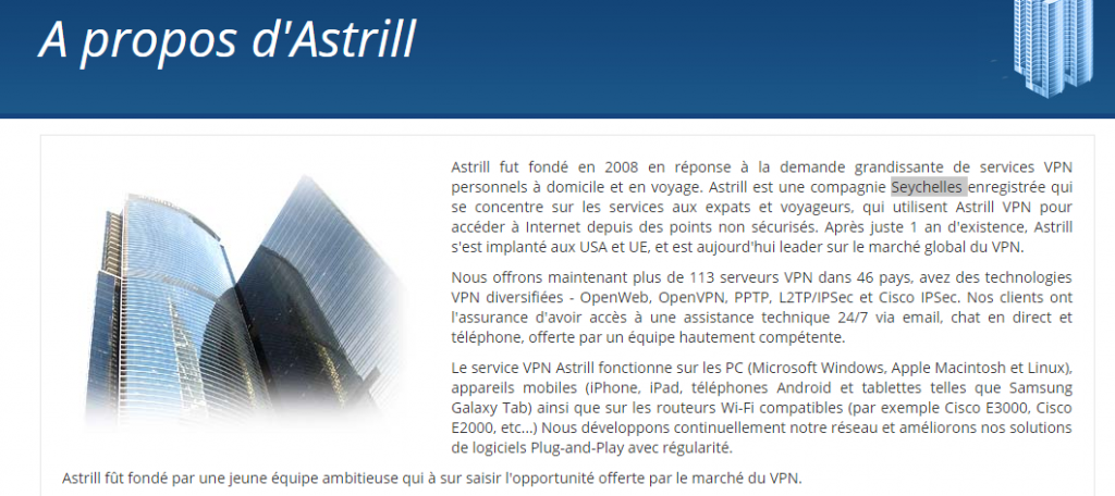 Astrill Seychelles