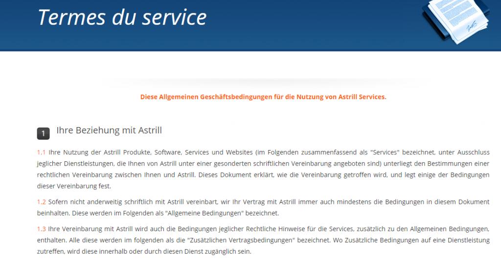 terme service astrill