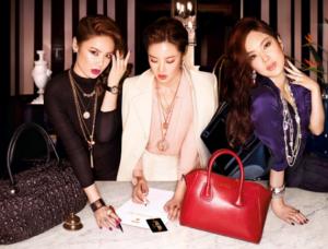 Consommateurs chinois (les millénials) du secteur du luxe
