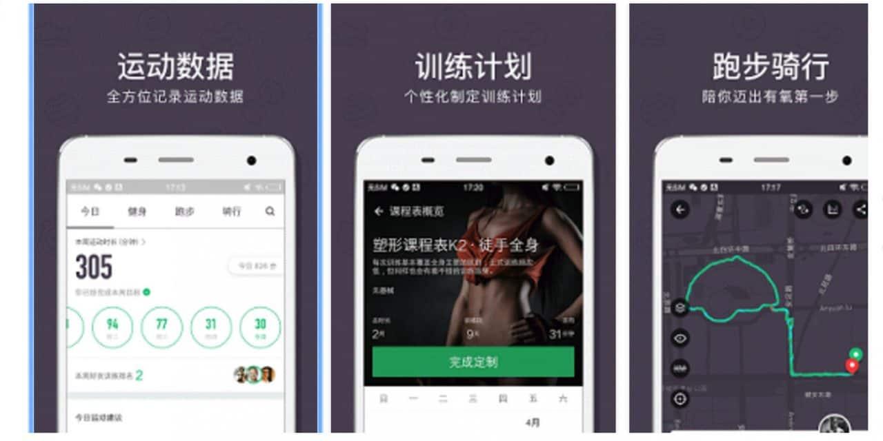 Chine : les marques de sport devraient être attentives à ces applications de fitness